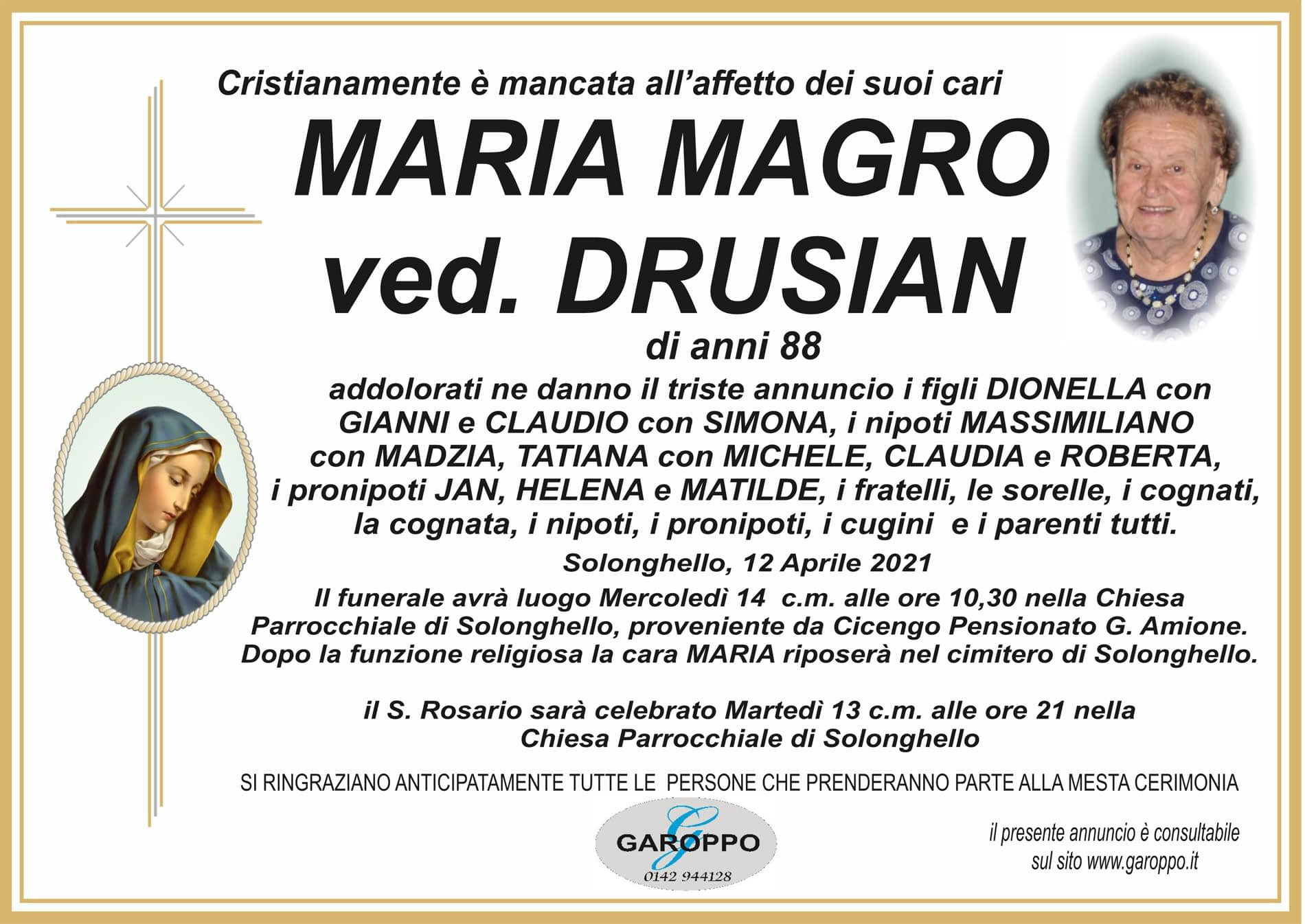 MAGRO MARIA VED. DRUSIAN